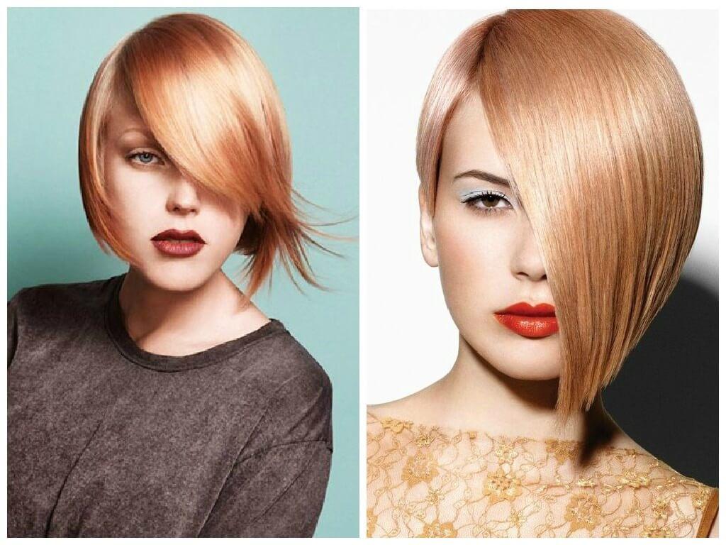 оттенки клубничного блонда короткие волосы