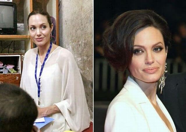 фото Анджелина Джоли без макияжа