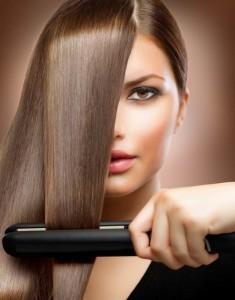 фото выпрямления волос утюжком