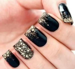дизайн ногтей с глиттером фото