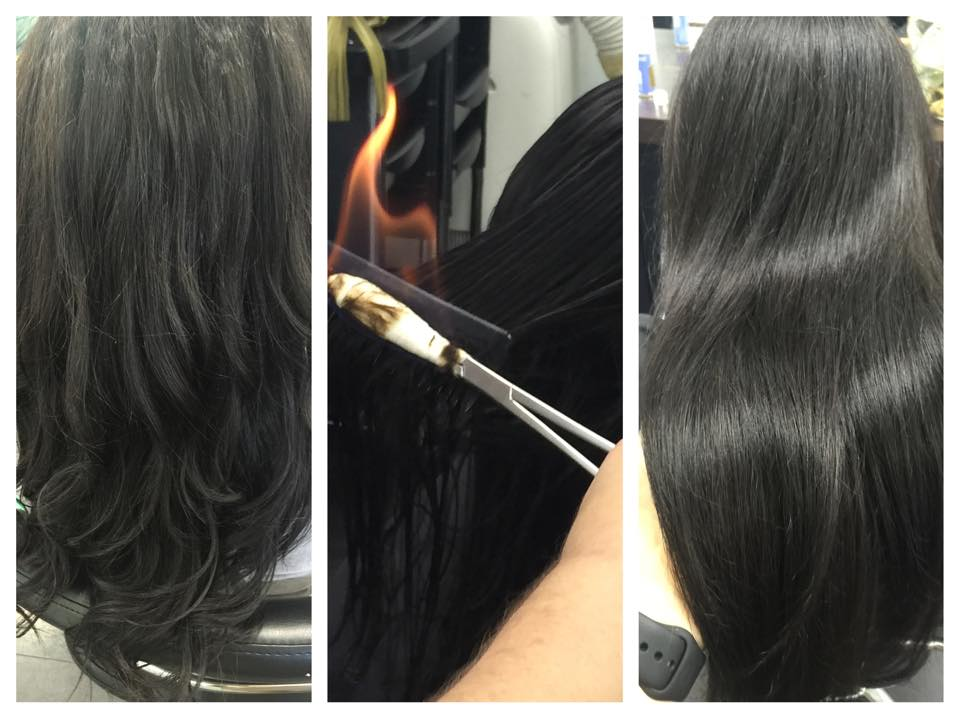 how to cut off split ends black hair