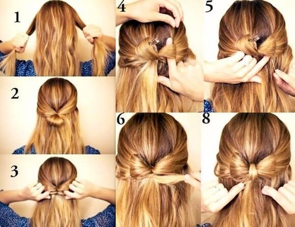 прическа бантик из волос пошаговая фото инструкция