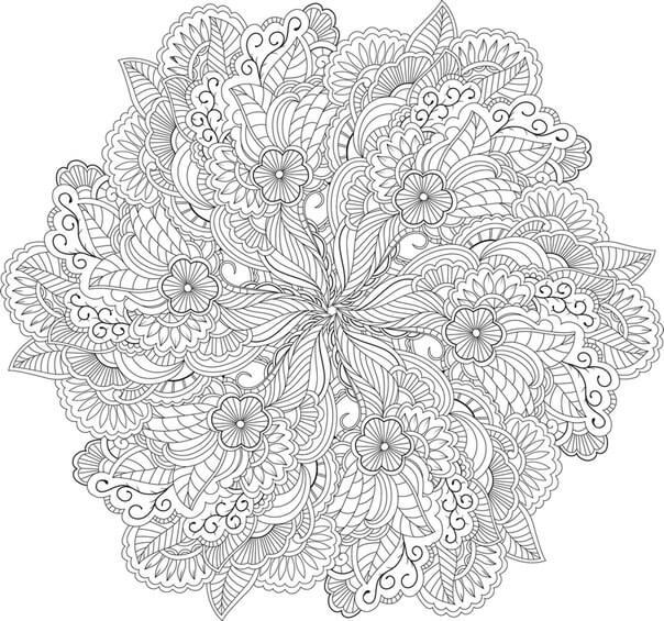 мандала - цветы