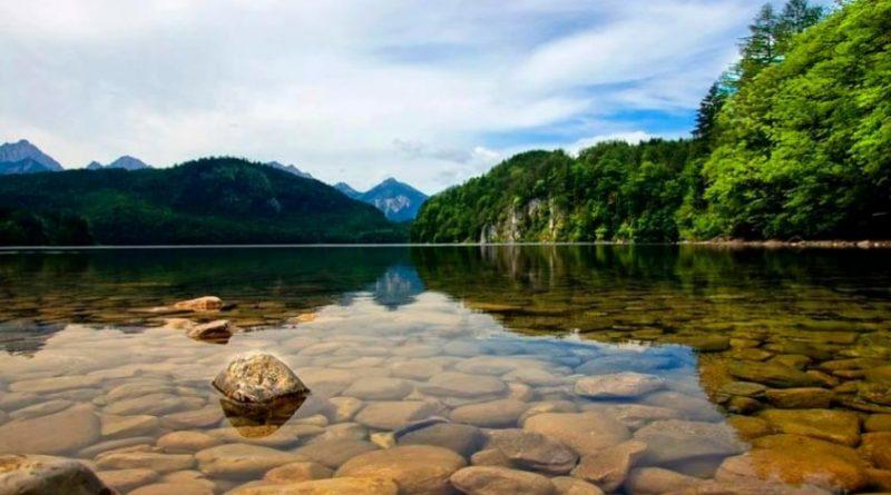 Река с прозрачной водой