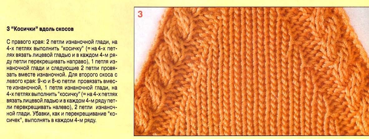 фото пример вывязывания реглана
