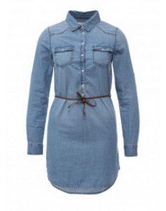фото джинсового платья