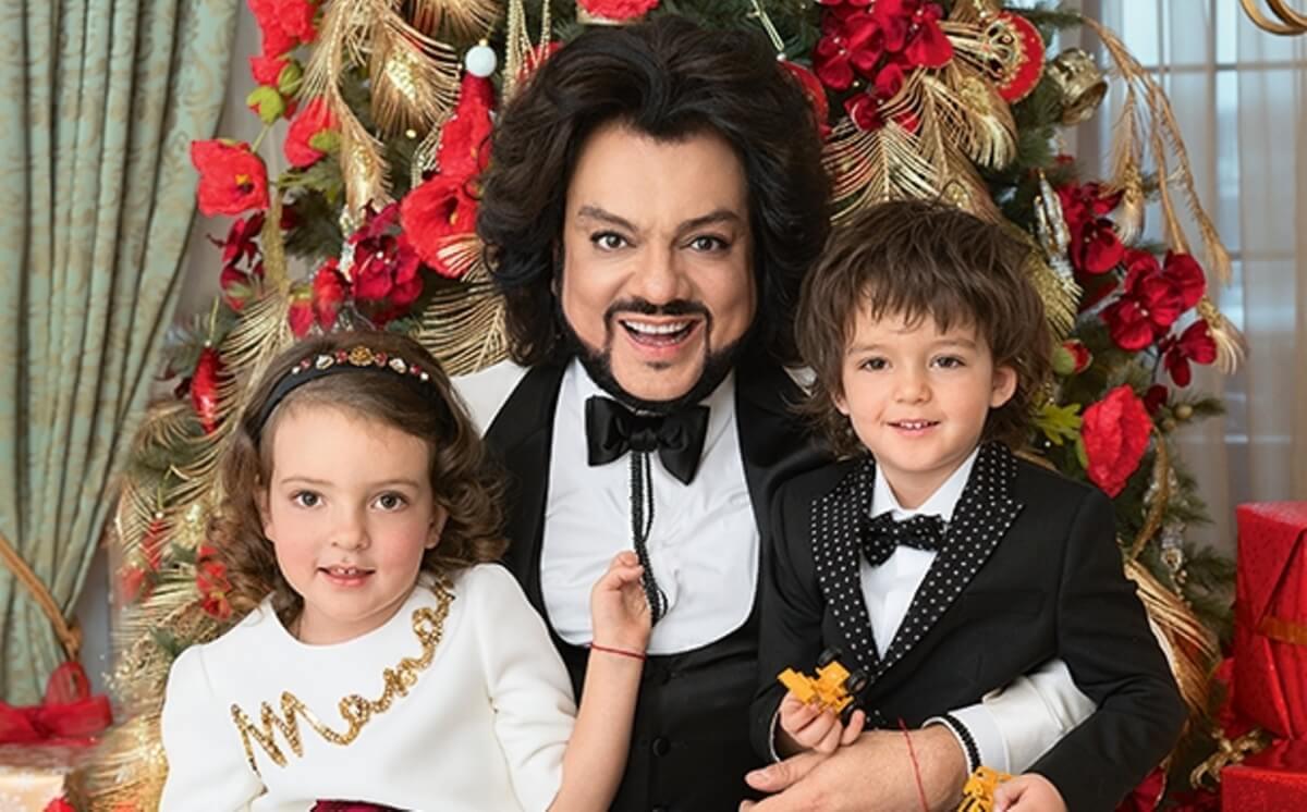 Фото Филипп Киркоров с детьми