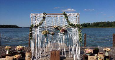 Шторка на свадебной арке