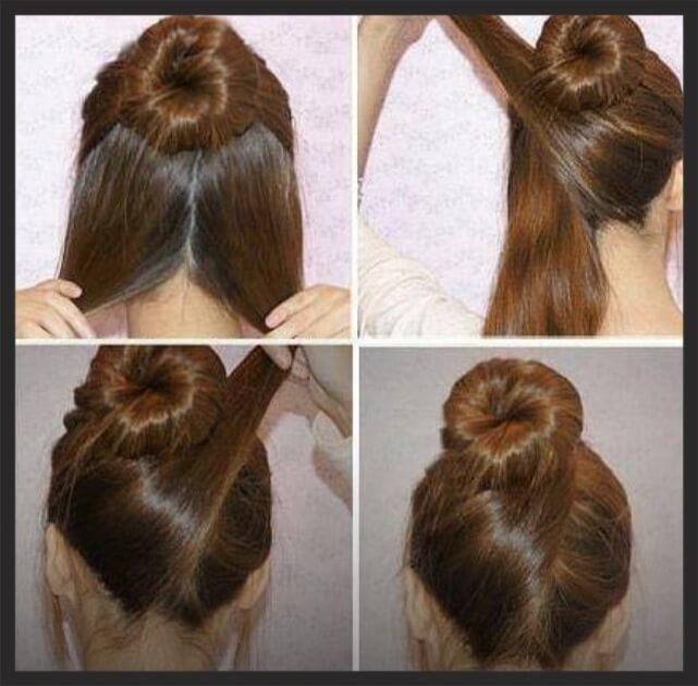 фото прическа с валиком на средние волосы