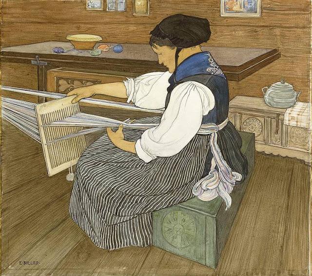 фото ткачества на бердо