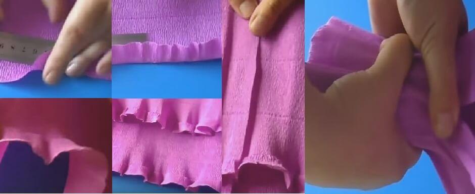 Как завернуть цветы в гофрированную бумагу пошаговая инструкция фото