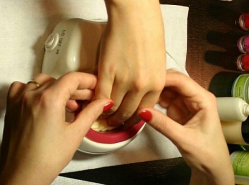 Фото ванночка для ногтей при горячем маникюре
