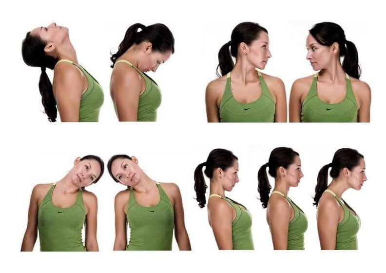 фото основные упражнения для лечения шейного остеохондроза