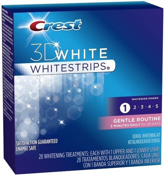 фото отбеливающих полосок Crest 3D White