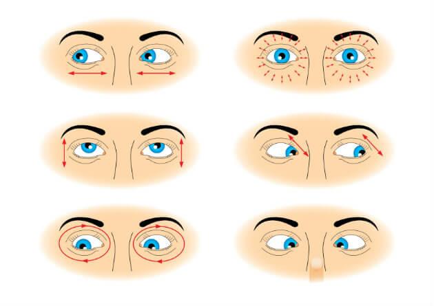 фото упражнения для восстановления зрения при близорукости