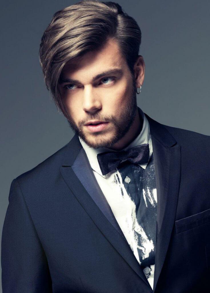 модельная стрижка мужская фото с челкой
