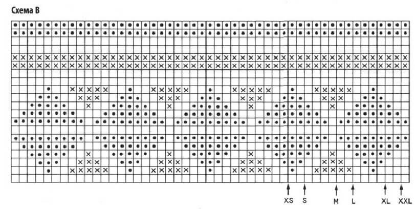 Фото схема жаккардового узора