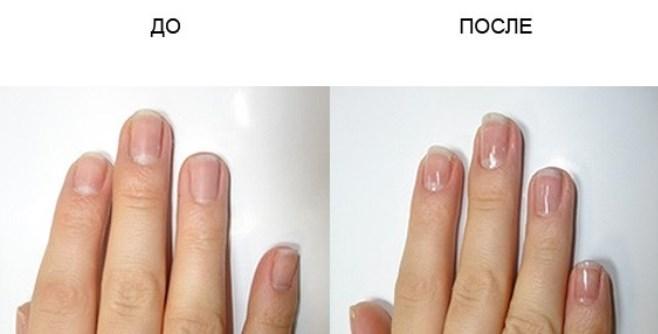 Фото до и после европейского маникюра