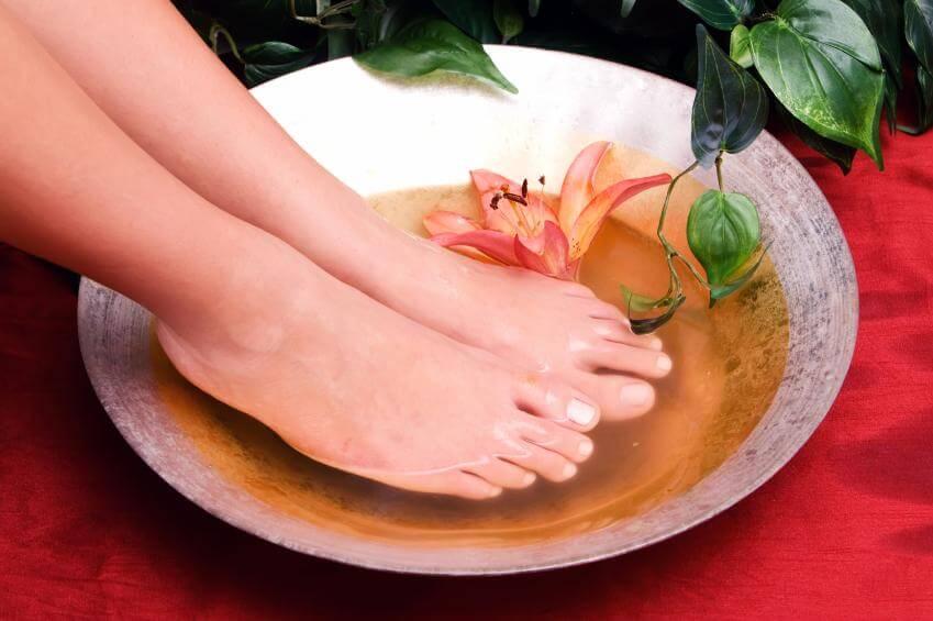 Фото пивные ванночки против запаха ног