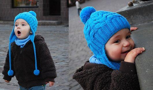 Фото вязанная шапочка для ребенка от 2 лет и старше