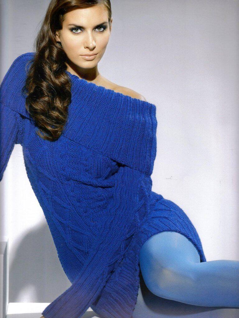 Пуловер спицами Женские вязаные пуловеры