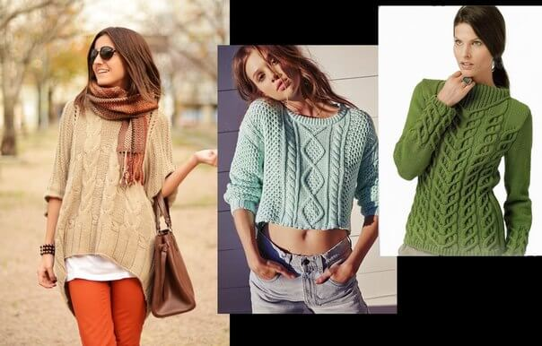 Фото модные женские пуловеры в 2017 году