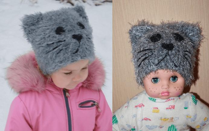Фото шапочка для девочки из травки