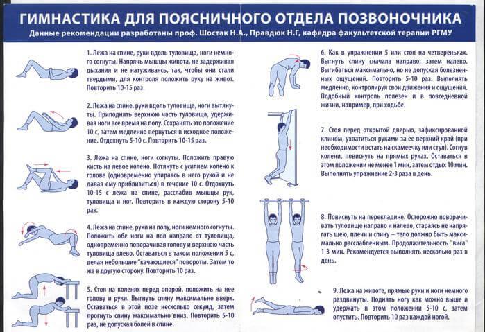 Фото эффективные упражнения в лечении остеохондроза поясничного отдела