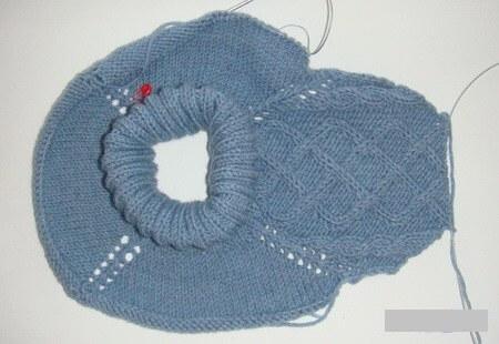 Фото вязание манишку на спицах регланом