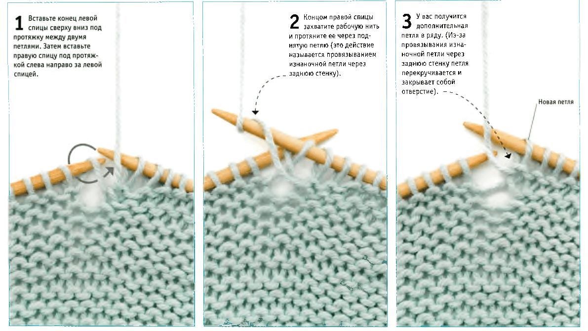 Вязание как сделать протяжку
