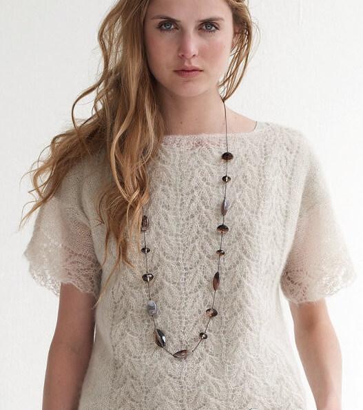 вязание ажурных свитеров схемы