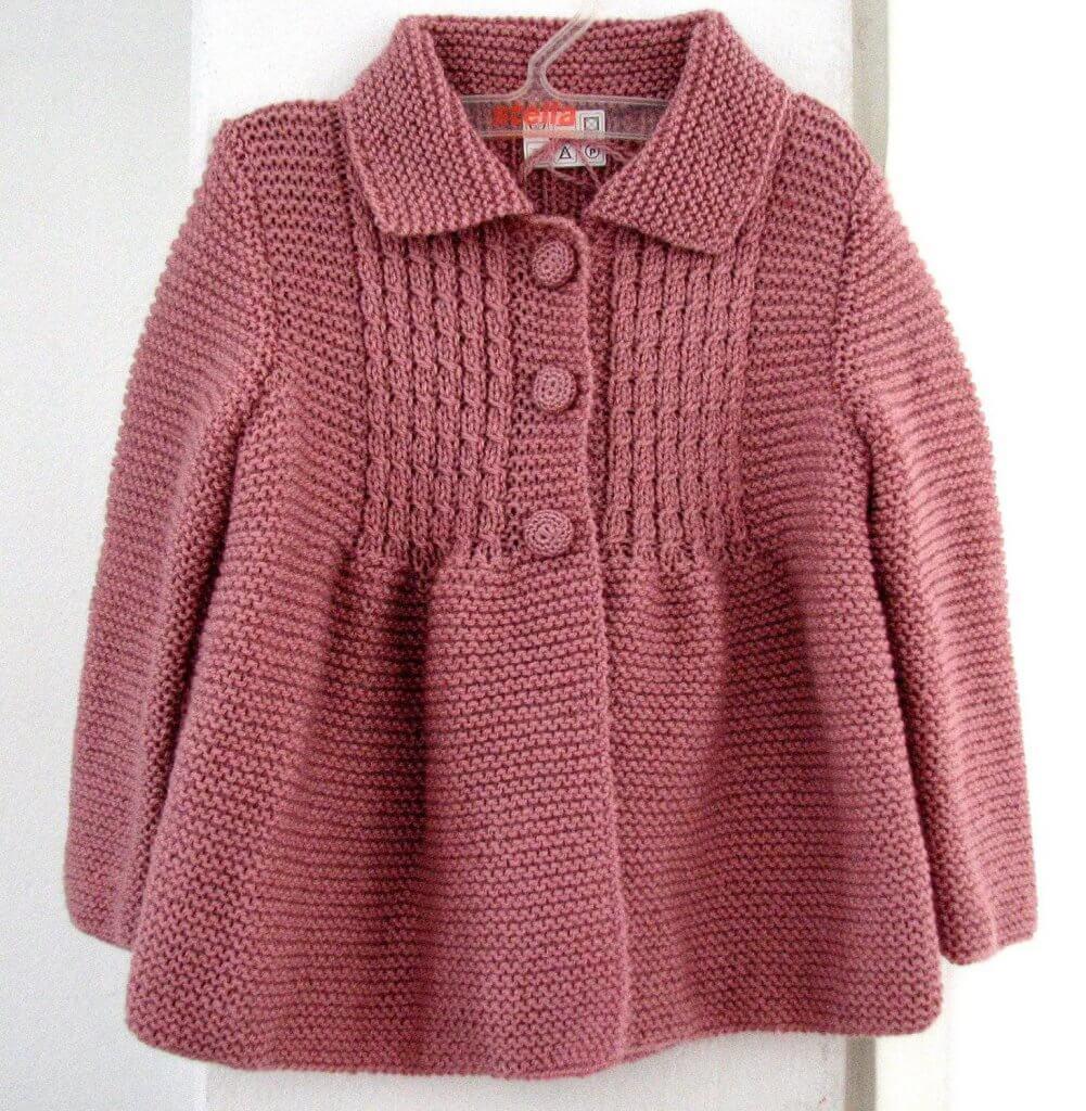 Фото пальто для девочки 1 год спицами со сложным узором