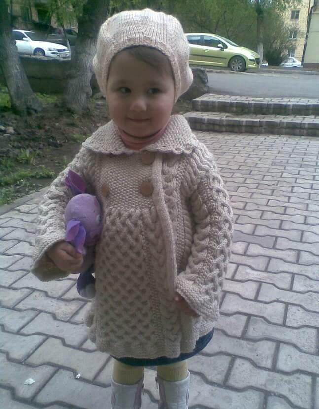 Фото пальто для девочки 1 года комплект с беретом