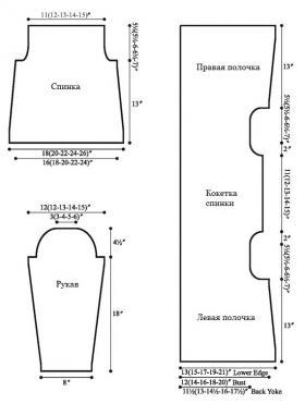 Фото выкройка для вязания спицами кардигана в классическом стиле