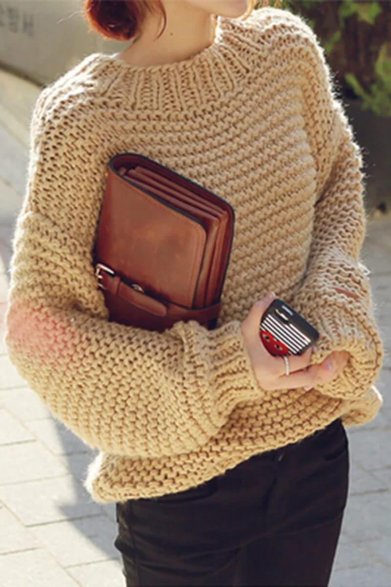 i-13 Как связать женский свитер спицами для начинающих пошагово