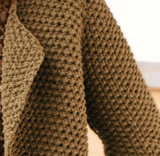 Фото жемчужный узор в вязании кардигана