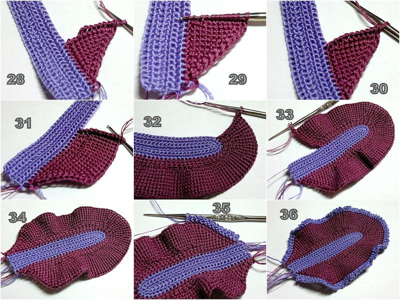 Фото схема вязания ириса крючком внутренние лепестки