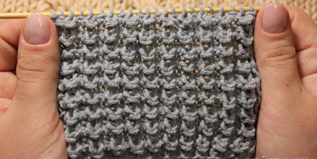 Фото упрощенный вариант вязания узора Кукуруза