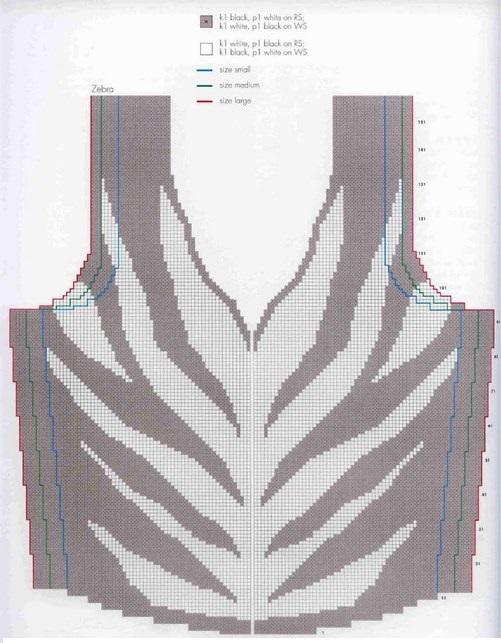Фото простая схема для техники интарсии в вязании
