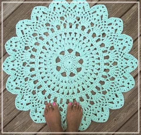 Фото круглые ажурные коврики крючком