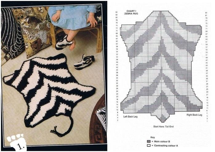 Схемы коврики своими руками 62