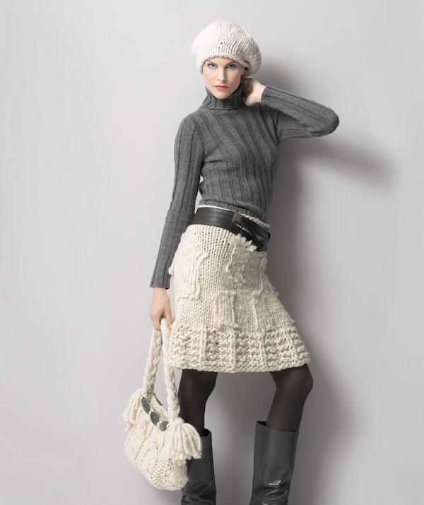 Фото вязанная юбка спицами