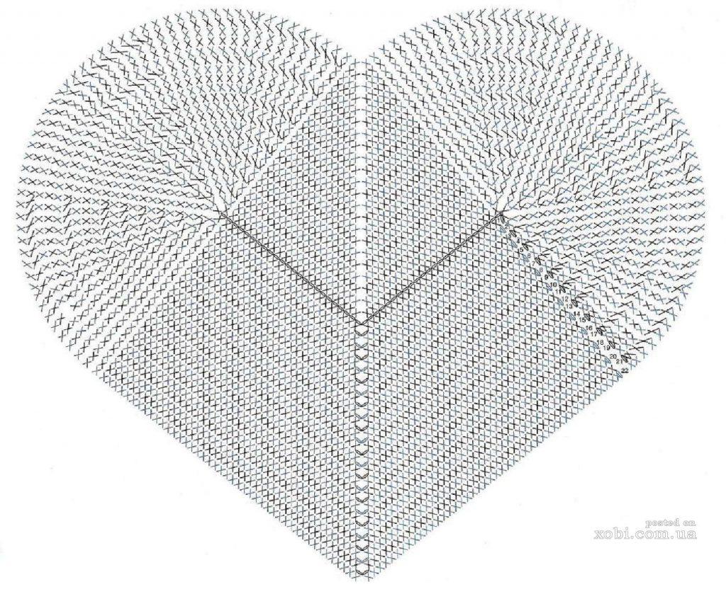 Фото вязанные подушки крючком в виде сердечек