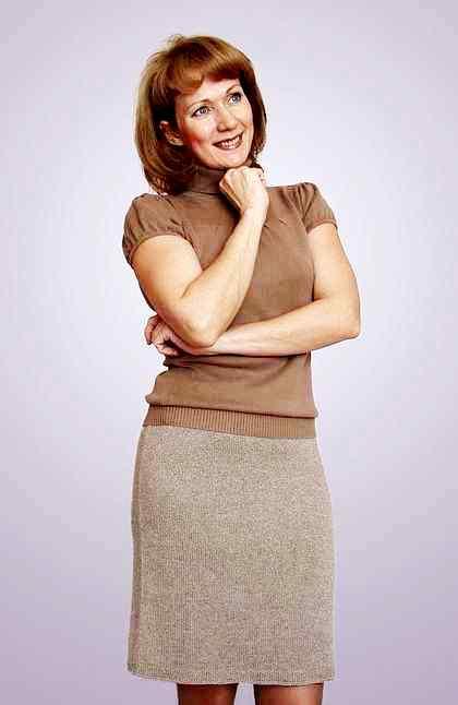 Фото простая прямая юбка спицами