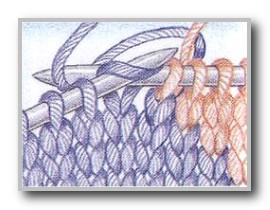 Фото диагональная смена цветов в интарсии
