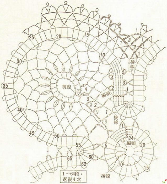 Фото схема салфеток в технике брюггского кружева