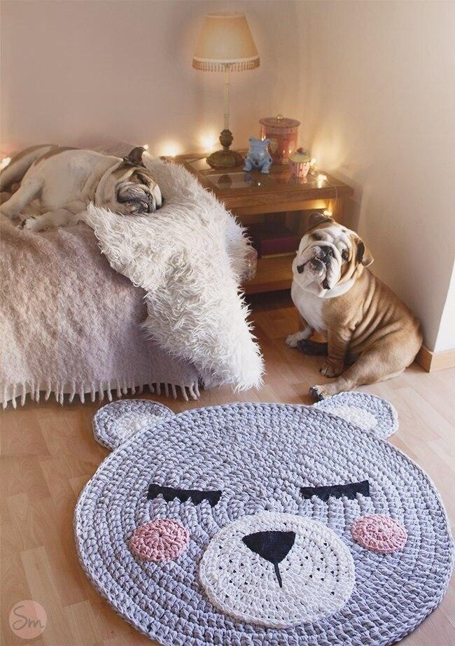 Фото коврик в детскую в виде мишки