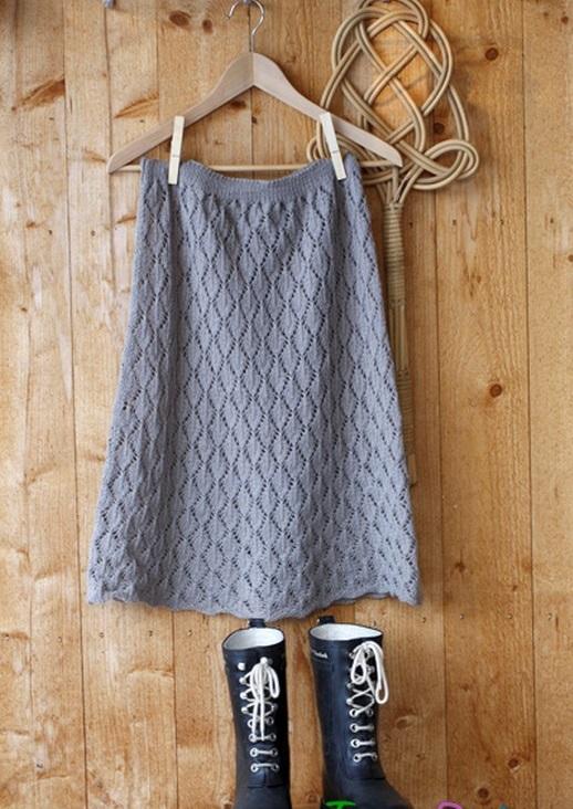 Фото ажурная юбка спицами