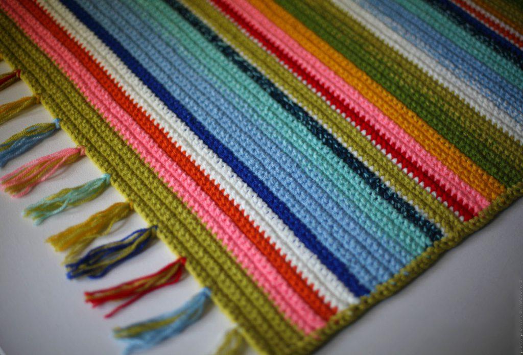 Вязание крючком прямоугольных ковриков 55
