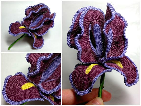 Фото вязание ириса крючком